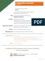 Freshman Checklist and Majors
