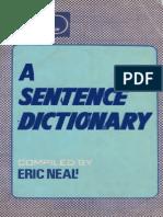 A Sentence Dictionary