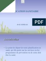 Présentation Planification sanitaire
