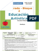 Plan 3er Grado - Bloque 2 Educación Artística
