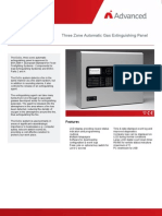 Three Zone Automatic Gas Extinguishing Panel