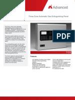Three Zone Automatic Gas Extinguishing Panel