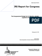 Allen Schick The Congressional Budget Act of 1974 (P.L. 93-344) Legislative History and Analysis