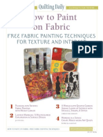 How to Paint on Fabric - Free Fabric Painting Techniques for Texture and Interest