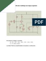 Construya El Amplificador Multietapa de La Figura Siguiente