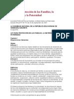 Ley para Protección de las Familias, la Maternidad y la Paternidad