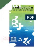 La Educación en Un Mund Plurilingue_UNESCO 1.2