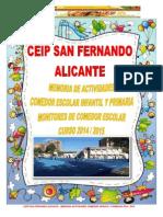 Colegio San Fernando Memoria Actividades 2014 2015 Ok