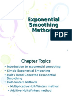 Exponential Smoothing Methods