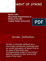 Management of Stroke-Mei2012