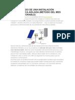 Dimensionado de Una Instalación Fotovoltaica Aislada