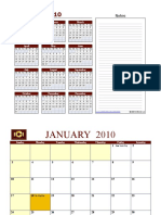 2010 Prereq Calendar