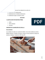 La Unidad en Albañileria y Algunos Conceptos