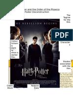 Harry Potter - Poster Deconstruction