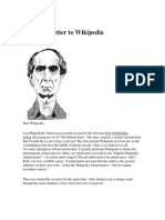 An Open Letter to Wikipedia