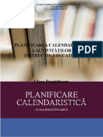 PLANIFICAREA CALENDARISTICĂ.doc