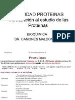 Clase de Bioquimica No 13 Unidad Proteinas Generalidades