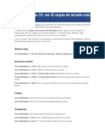 Guía Windows 10 Atajos Del Teclado