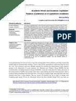 Billig 2013 Academic Words and Academic Capitalism Athenea Digital - Revista de Pensamiento e Investigacion Social 13 1-7-12