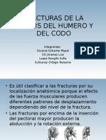 Fracturas de La Diafisis Del Humero y Del Codo