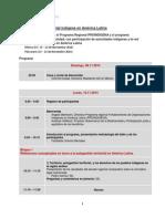 Programa Encuentro PF MEX-11-2014