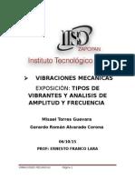 Tipos de Vibrantes y Analisis de Amplitud y Frecuencias