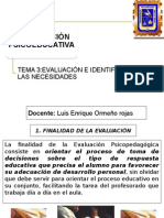 Evaluación e Intervencion
