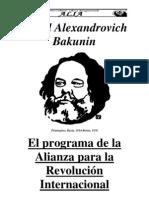 MIJAIL BAKUNIN- Programa de La Alianza Para La Revolucion Internacional