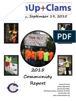 Clean Up and Clams Community Report 2015