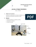 Procedimiento de laboratorio Fuerza Centrip
