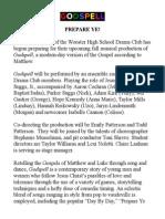godspell- final press release