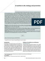 THE ROLE OF DIET AND NUTRITION IN THE ETIOLOGY AND PREVENTION OF ORAL DISEASE