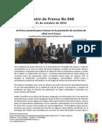 Boletín 048_ Se Firma Convenio Para Innovar en La Prestación de Servicios de Salud en El Cauca