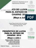 4 Pronostico de Lluvias Chiapas Mayo-julio 2014