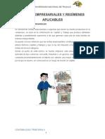 Rentas Empresariales y Regímenes Aplicables