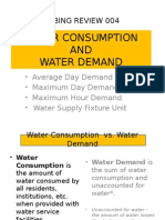 4 Water Consumption & Water Demand