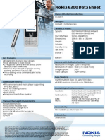 Nokia 6300 Datasheet