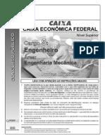 Prova Caixa economica federal Eng mecanico