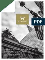 American Ultra Wealth Ranking 2014 2015