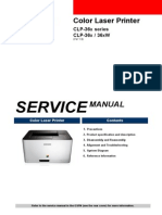 Svc Manual Clp-36x Sansung
