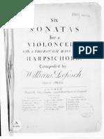 Defesch 6 Vc Sonatas Op8