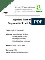 unidad 1 programacion lineal upiicsa