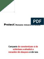 """Proiect Romania """"Intoarce-te acasa"""""""
