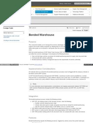 Bonded Warehouse pdf | Warehouse | Business Process