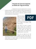 Análisis Del Proyecto de Canal de Irrigación Ponaza Del Distrito de Tingo de Ponaza