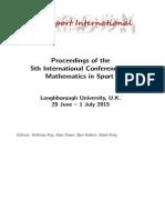 Math Sport 2015 Proceedings