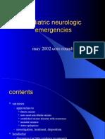 Pediatric Neurologic Emergencies