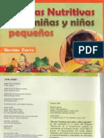 Recetas Nutritivas para niñas y niños pequeños
