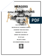 Project Report on mergers and acquisitions