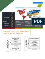 Regiones Del Mundo, OMT y Llegadas Internacionales